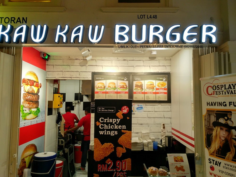 10% off all menu items at Kaw Kaw Burger Sunway Putra Mall on Tuesdays by flashing Autsome band