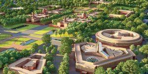 Artist impression of India's new parliament complex